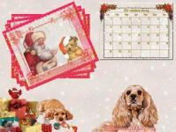 Calendrier decembre 2014 chien noel