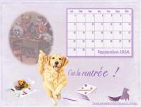 Calendrier septembre 2014 chien labrador