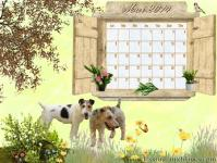 Calendrier mai 2014 chien fox terrier